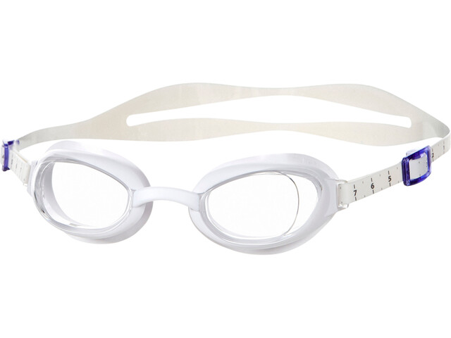 speedo Aquapure Svømmebriller Damer, white/clear